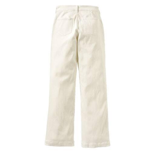 【レディース】 裏起毛ワイドジーンズ(美脚パンツ・選べる2レングス) – セシール