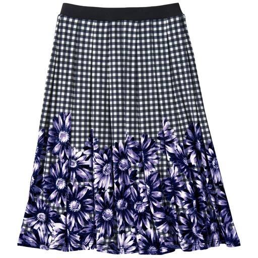 【レディース大きいサイズ】 プリントスカート