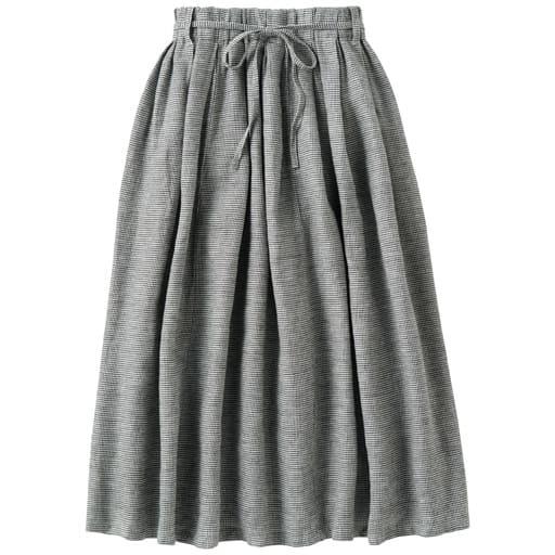 30%OFF【レディース】 表起毛リネンコットンのギャザースカート(ベルト付) - セシール