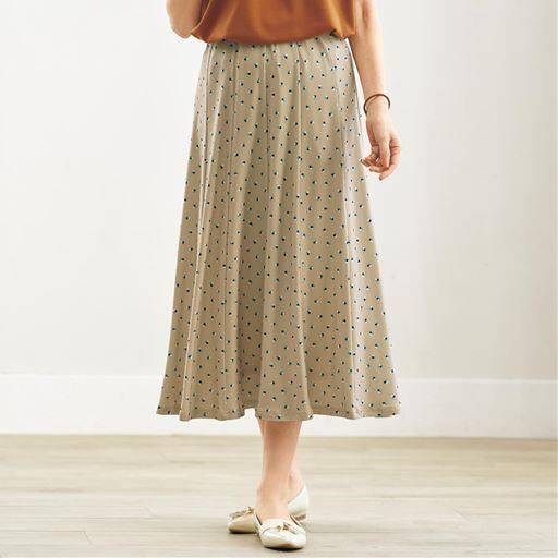 【レディース】 ウエストらくらくスカート(選べる2レングス) – セシール