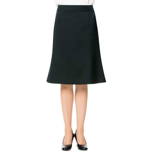 【レディース】 スカート丈が選べるスーツマーメイドスカート(事務服・洗濯機OK)