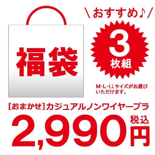 【レディース】 おまかせカジュアルノンワイヤーブラ3枚組