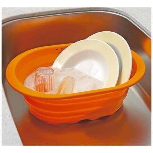 シリコーン 小判型洗い桶