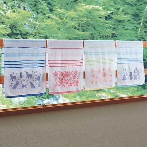 泉州産 軽くて使いやすい薄手タオル(柄違い4枚組) – セシール