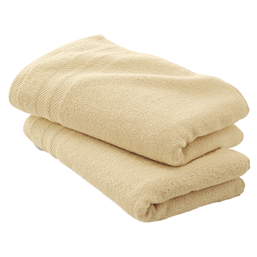 ほどよい厚みのシンプルタオル(同色2枚組) – セシール