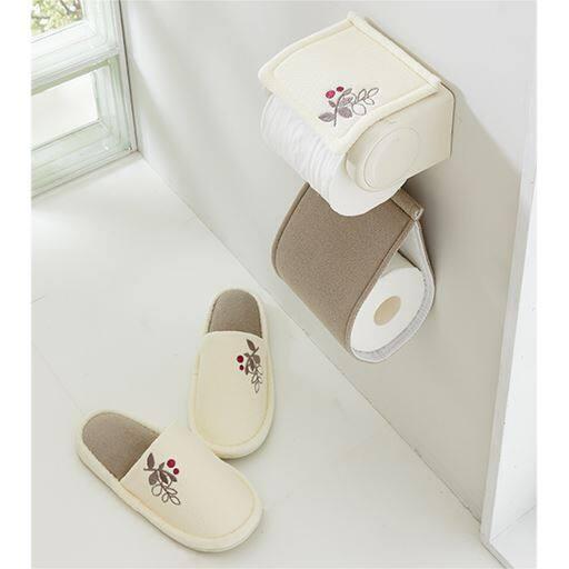 【単品販売】ラインリーフ柄トイレ小物の写真