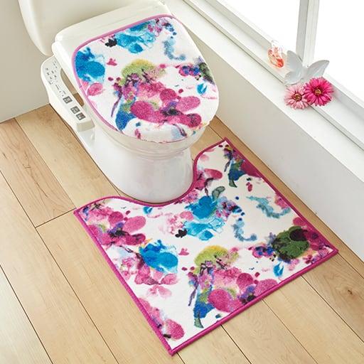 【単品販売】ハナエモリ 水彩画のような華やかトイレ用品 – セシール