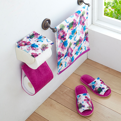 【単品販売】ハナエモリ 水彩画のような華やかトイレ小物の商品画像