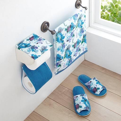 【単品販売】ハナエモリ 水彩画のような華やかトイレ小物の写真