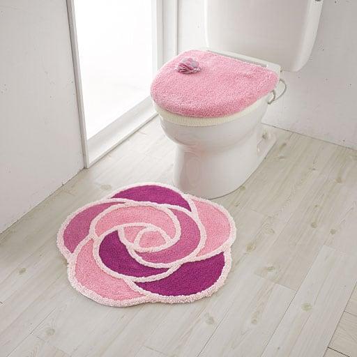 ローズ柄トイレ用品(単品販売)の写真