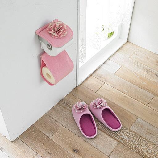 ローズ柄トイレ小物(単品販売)の写真
