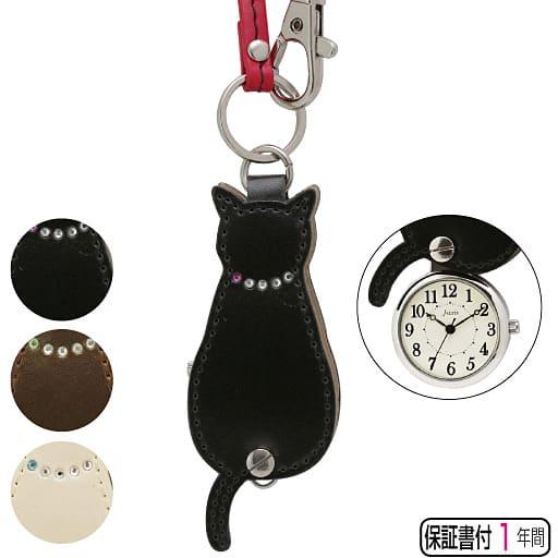 【レディース】 うしろ姿ネコ時計(ストラップ付き) - セシール