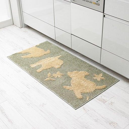 綿混キッチンマット(犬柄)の写真