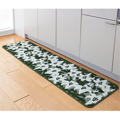 抗菌防臭キッチンマット(花畑シリーズ)の写真