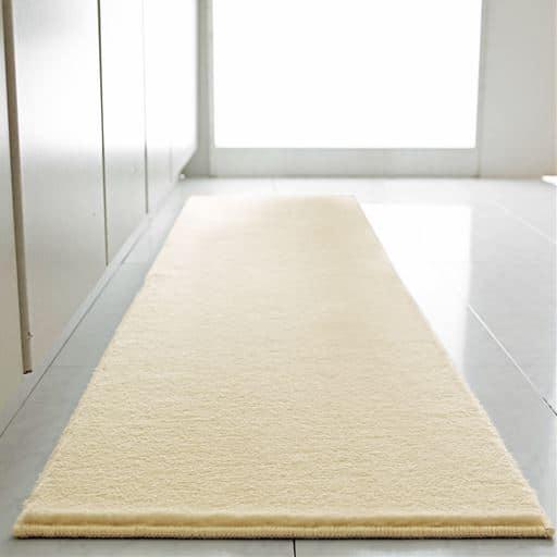 セシールふかふかムートン調キッチンマット(防ダニ・抗菌) - セシール
