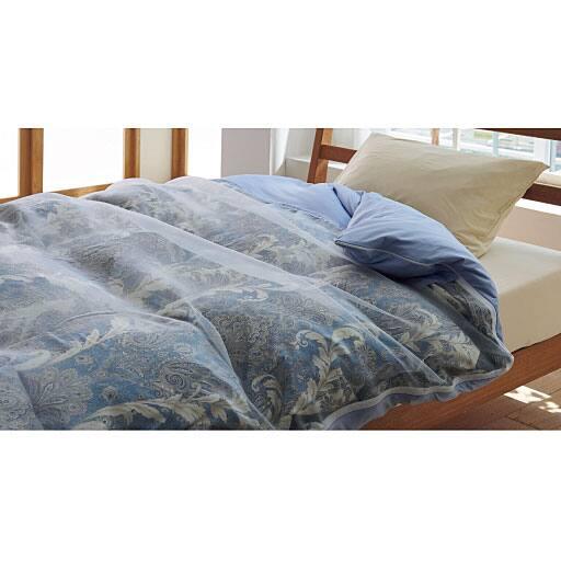 「羽毛布団の柄を見せる」レースの掛け布団カバー – セシール
