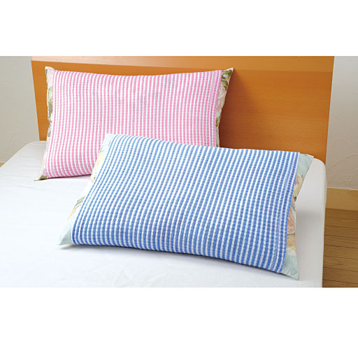 のびのびタオル地枕カバー(2色組)の写真