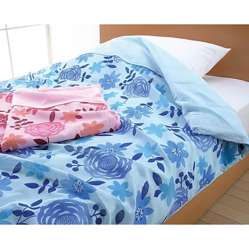 衿付ガーゼ肌ふとんカバー(色違い2枚組)の商品画像