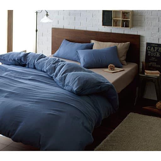 やわらか仕上げの2重ガーゼ枕カバー(同色2枚組)の写真