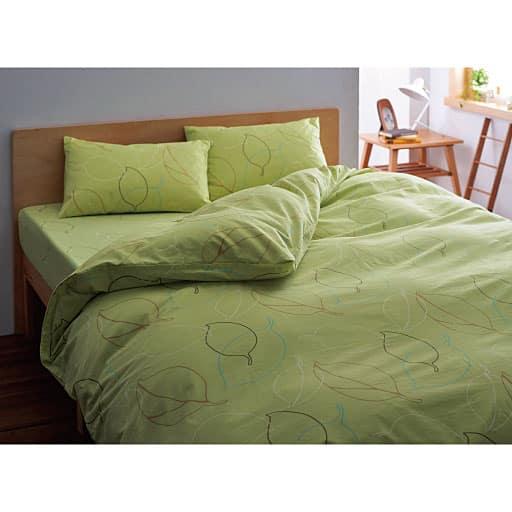 抗菌防臭枕カバー(リーフ柄)の写真
