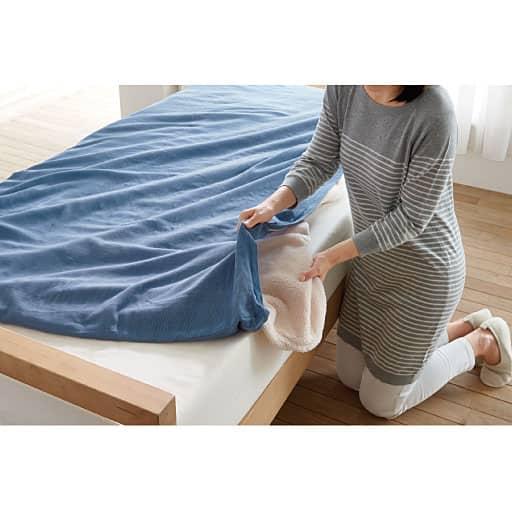 「洗いにくいものは汚しにくく」やわらか仕上げの2重ガーゼ毛布・肌布団カバーの商品画像