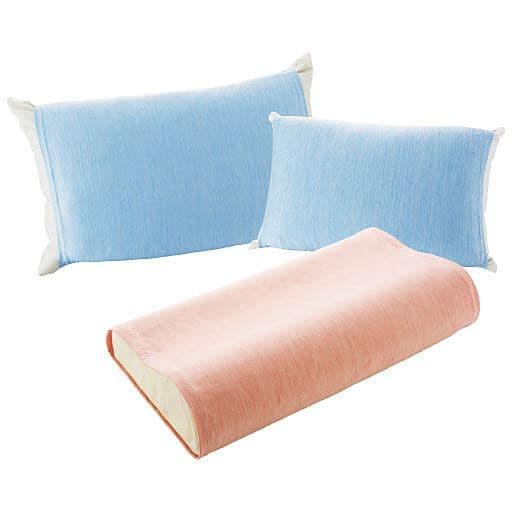 「伸縮するからいろんな枕に簡単フィット!」ひんやりニットのびのび枕カバーの写真