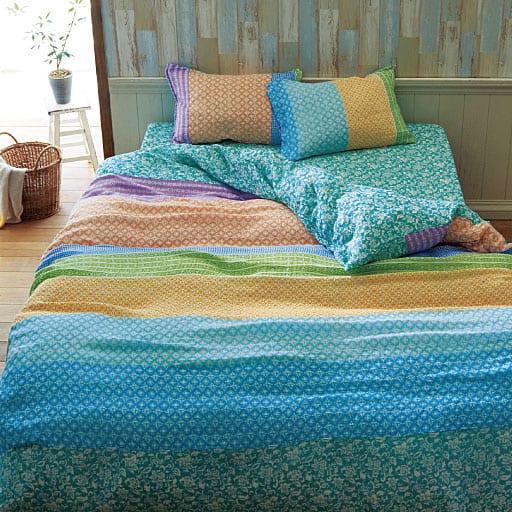 お肌に優しい柔らか仕上げ。洗いざらしの2重ガーゼ枕カバー(同柄2枚組) – セシール