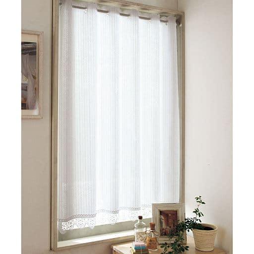 遮熱UVプロテクトカット小窓用ミラーレースカーテンの写真