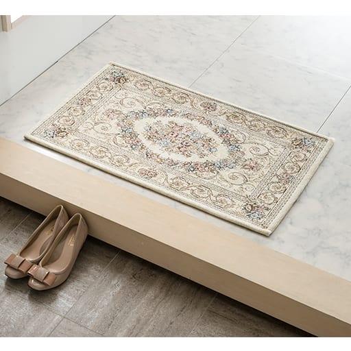 ジャカード織り玄関マット(フルール)の商品画像