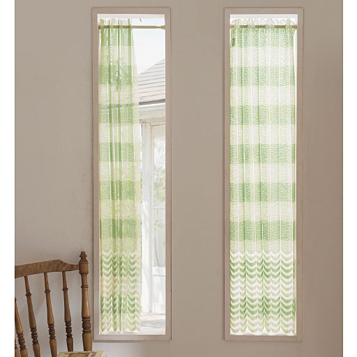 幅丈カットできる小窓用アコーディオンカフェカーテン – セシール
