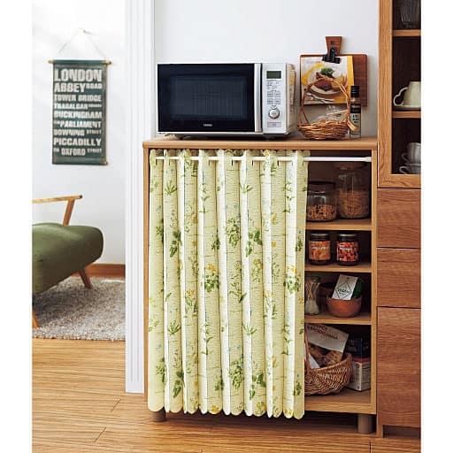 幅丈カットできる小窓用アコーディオンカフェカーテンの商品画像