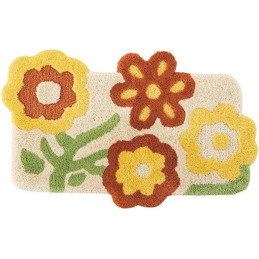 ふかふか花柄変形玄関マット(抗菌防臭)の商品画像