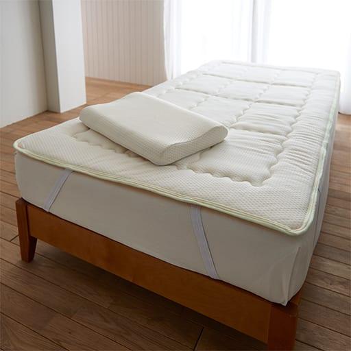 寝心地を調整する洗えるベッドパッドの商品画像