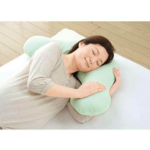 横寝らくらく枕II(洗い替えカバー付き)の写真