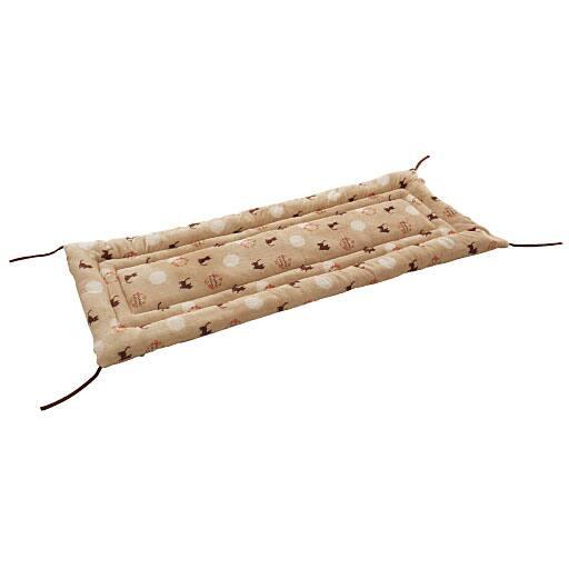 毛布生地で作ったごろ寝長座布団(ネコ柄) – セシール