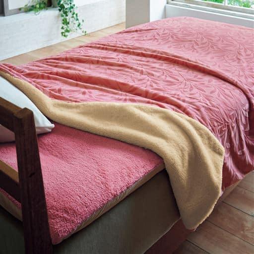 布団を包むズレない毛布(リーフ柄) – セシール