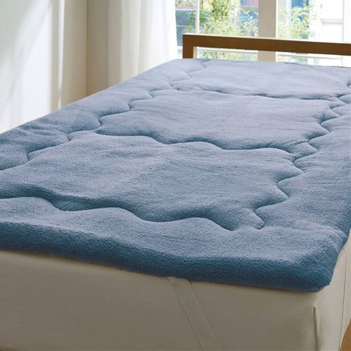ふわふわ毛布生地で作ったふかふかボリュームパッドシーツ