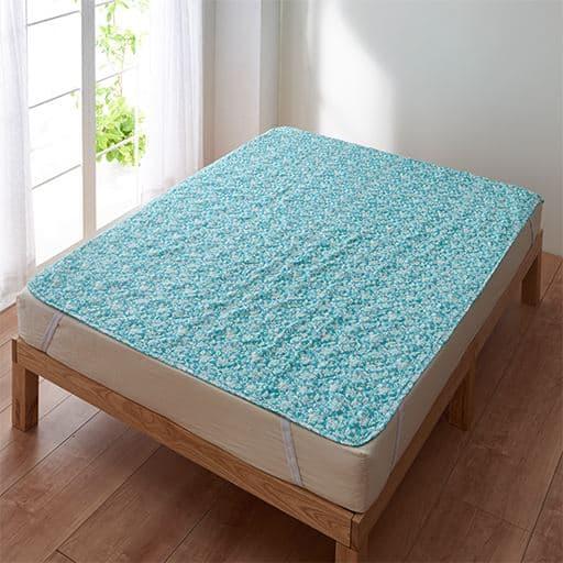 お肌に優しい柔らか仕上げ。洗いざらしの2重ガーゼパッドシーツ(敷きパッド)の商品画像