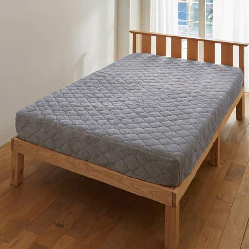 ふわふわ毛布生地のパッド一体型ベッドシーツの写真