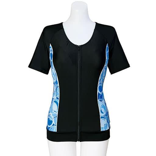 【レディース】 13機能のインナーブラ付き フィットネス水着 - セシール