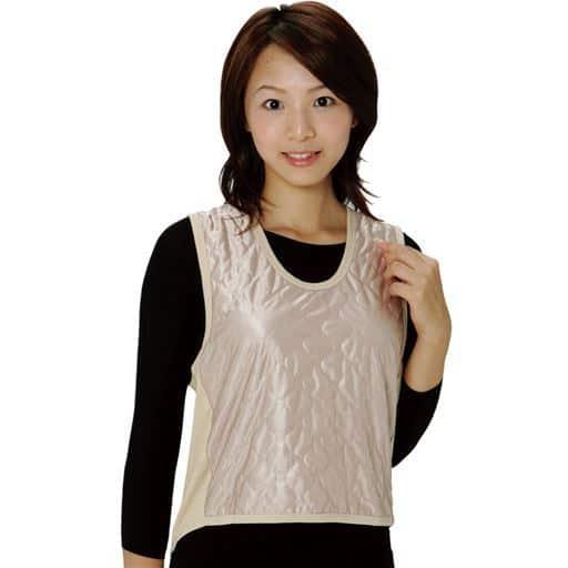 【レディース】 吸湿発熱繊維保温ベスト同色2枚組