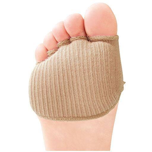 綿混サラリ 洗える足まめパッド(1足組)