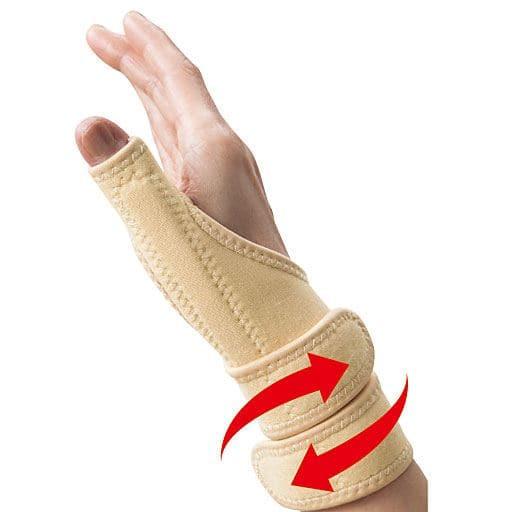 装着簡単!左右兼用の親指・手首サポーター – セシール