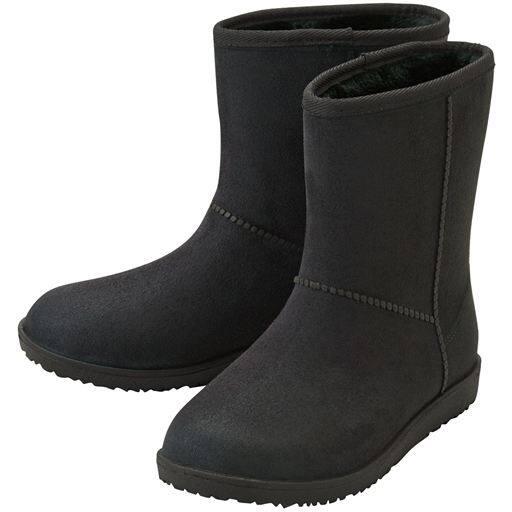 スエード調 晴雨兼用ブーツ - セシール
