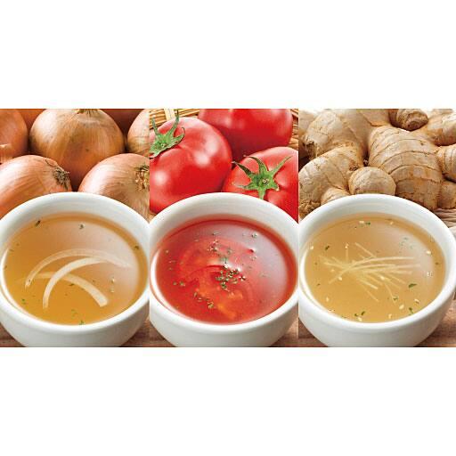 健康野菜のスープ3種セット - セシール