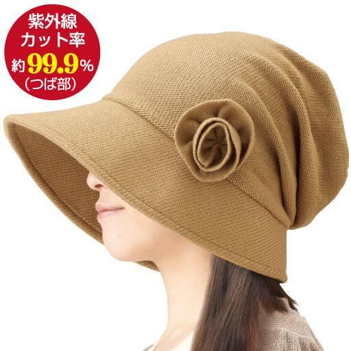 耳あて付きすっぴん小顔帽子 – セシール