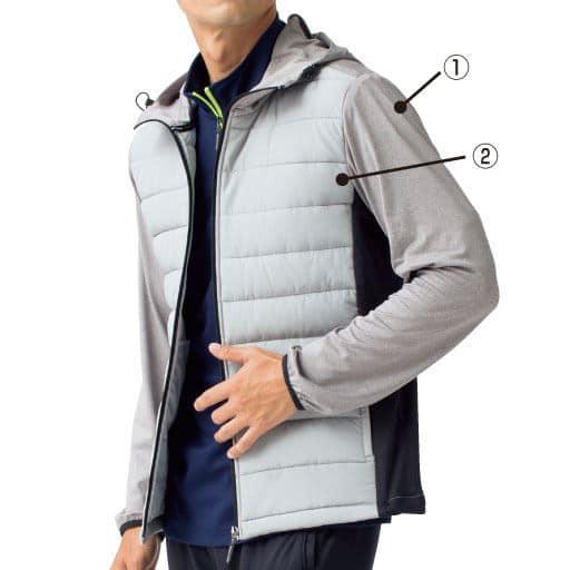 【メンズ】 キルティングパーカジャケット(コンバース)