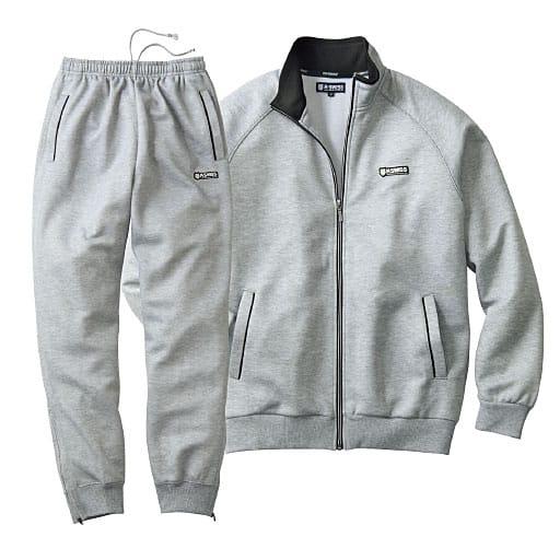 <セシール>【メンズ】 トレーニングスーツ(ケースイス) <サイズ>LL、3L、5L、M、L <カラー>グレー