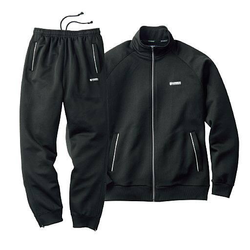 <セシール>【メンズ】 トレーニングスーツ(ケースイス) <サイズ>LL、M、L、5L、3L <カラー>ブラック