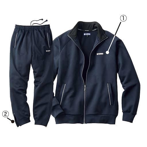 <セシール>【メンズ】 トレーニングスーツ(ケースイス) <サイズ>3L、LL、M、5L、L <カラー>ブルー